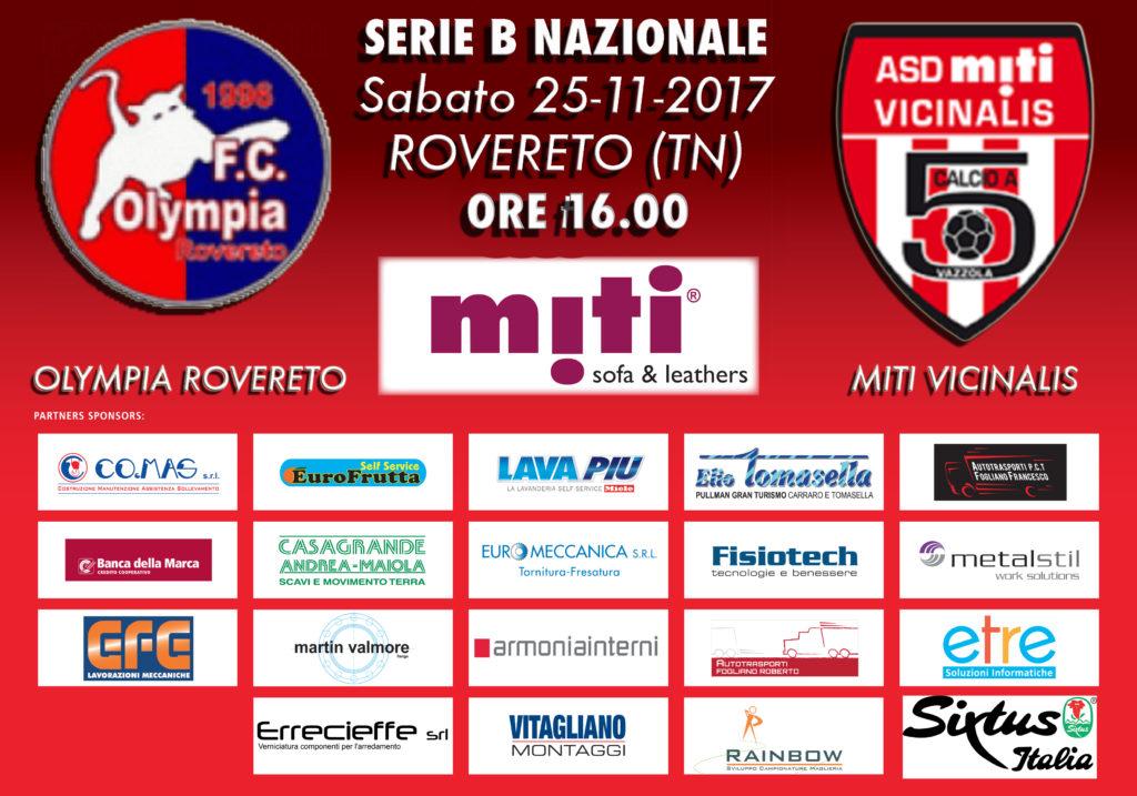 SERIE B - Olympia Rovereto vs Miti Vicinalis @ Rovereto (TN)
